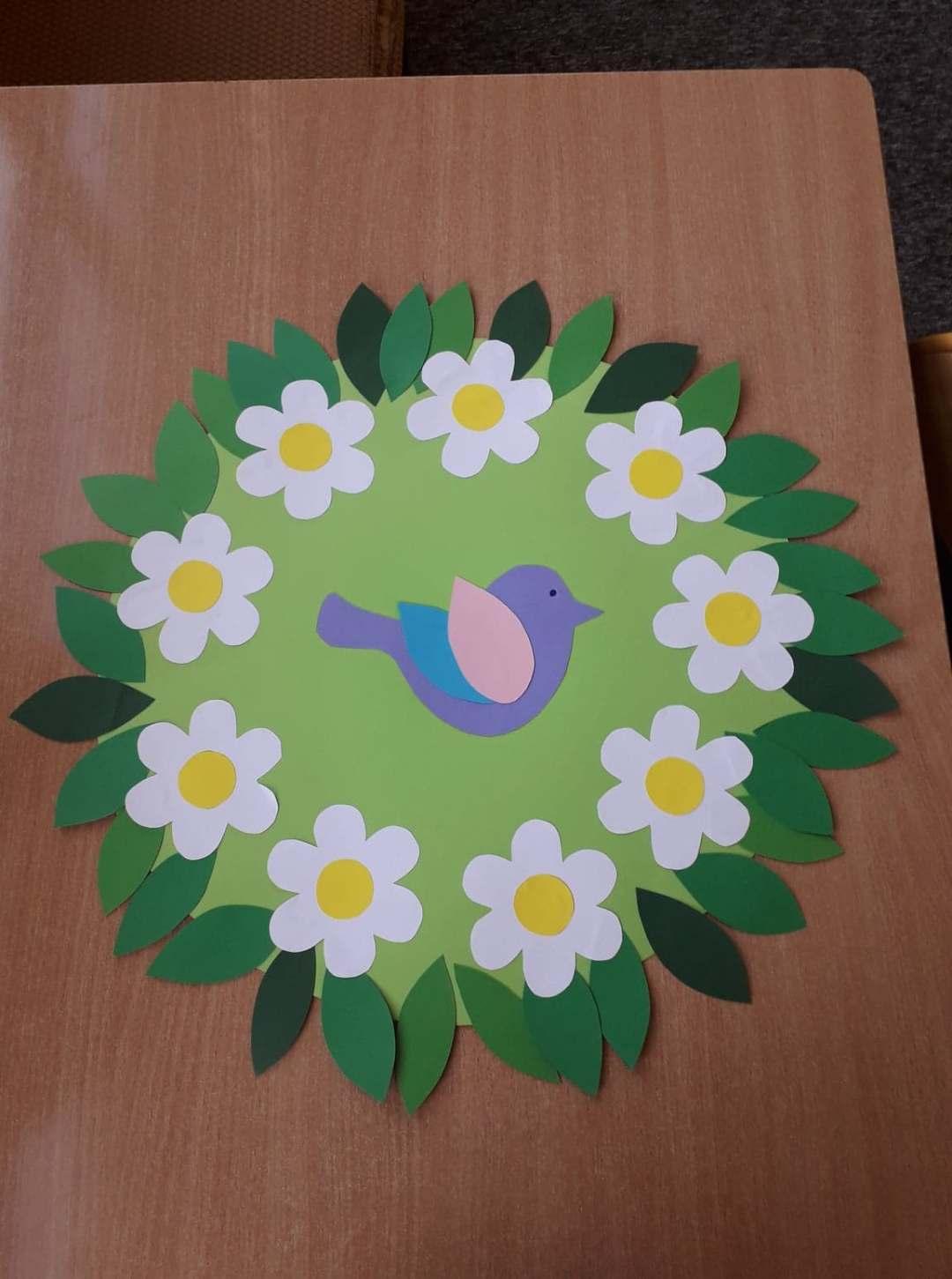 Dekoracja wiosenna na okna Alicja Mazur Prace plastyczne