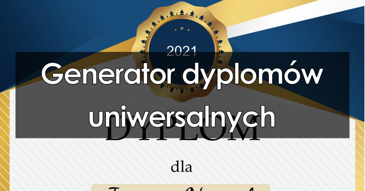 Generator dyplomów uniwersalnych