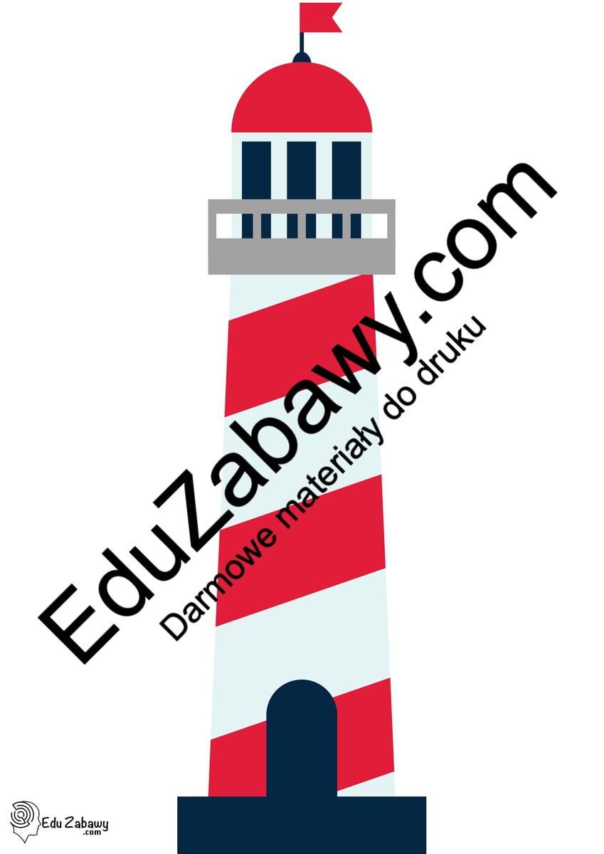 Dekoracje: latarnia morska, ster (10 szablonów) Dekoracje Dekoracje (Pożegnanie przedszkola) Dekoracje (Zakończenie roku)