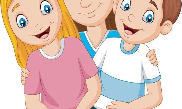 Dekoracje: mama z dziećmi (6 szablonów)