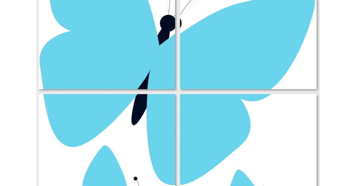 Dekoracje XXL: motyle (10 szablonów)