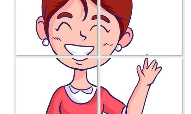 Dekoracje XXL: nauczycielka (10 szablonów)