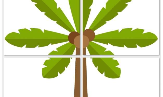 Dekoracje XXL: palmy (10 szablonów)