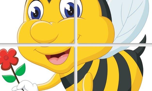 Dekoracje XXL: Pszczółki (10 szablonów)