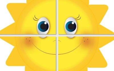 Dekoracje XXL: Słońce (10 szablonów)