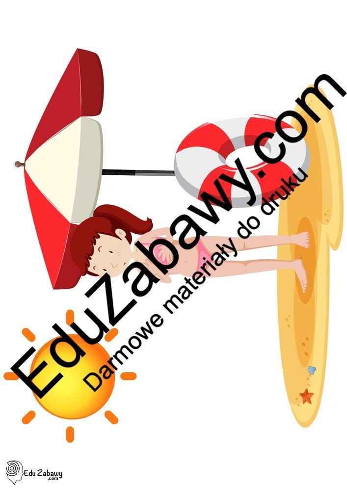 Dekoracje: plaża / zabawy w piasku (10 szablonów) Dekoracje Dekoracje (Pożegnanie przedszkola) Dekoracje (Zakończenie roku)