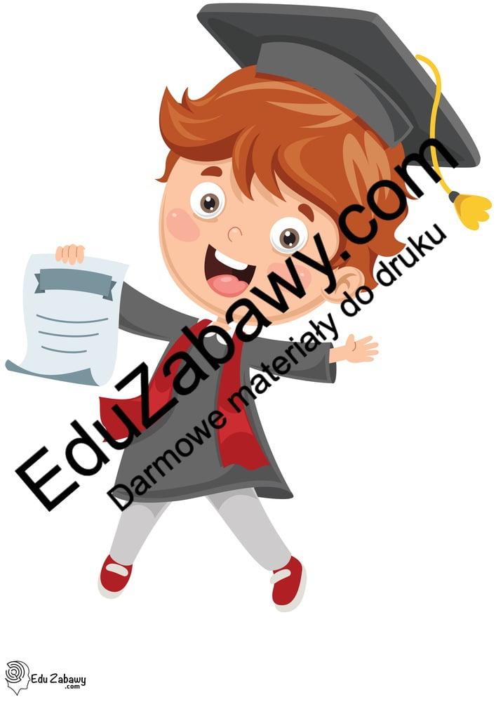 Dekoracje: przedszkolaki / uczniowie (10 szablonów) Dekoracje Dekoracje (Pożegnanie przedszkola) Dekoracje (Zakończenie roku)
