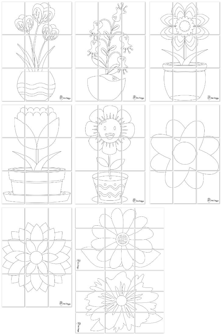 Kolorowanki XXL: Kwiaty (9 szablonów) Dzień Matki Kolorowanki XXL Kolorowanki XXL (Dzień Mamy)