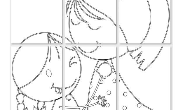 Kolorowanki XXL: Mama z córką (8 szablonów)