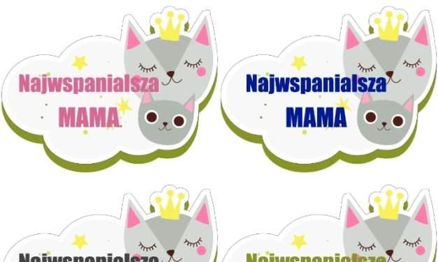 Urocze odznaki na Dzień Mamy (4 szablony)