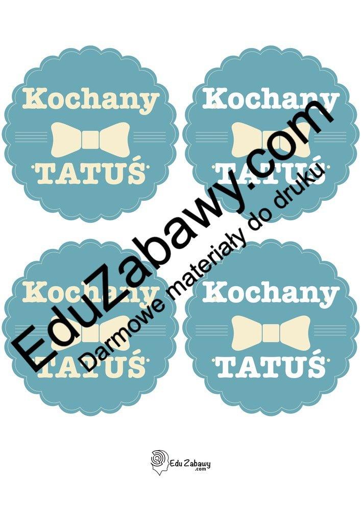 Odznaki Kochanego Taty (3 szablony) Dzień Taty Odznaki (Dzień Rodziny) Odznaki i medale (Dzień Taty)