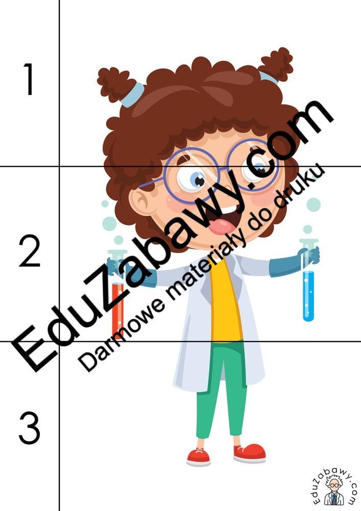 Dzień Chemika: Puzzle: 3 elementy (10 kart pracy) Dzień Chemika Karty pracy Puzzle