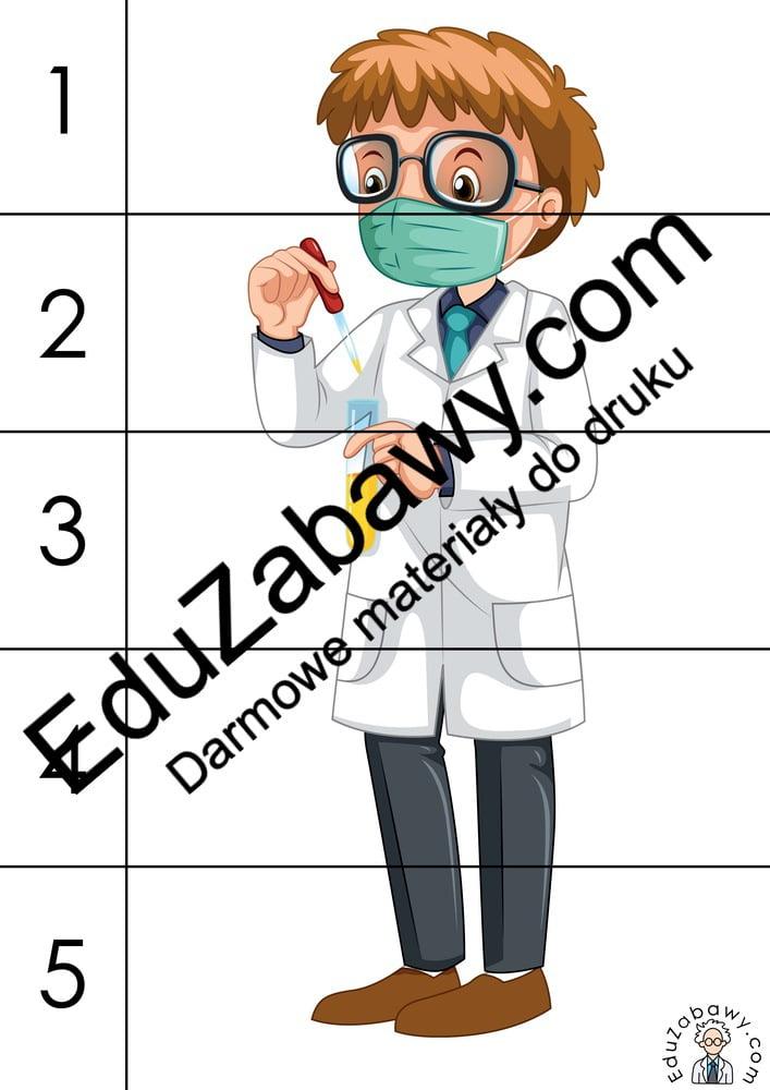 Dzień Chemika: Puzzle: 5 elementów (10 kart pracy) Dzień Chemika Karty pracy Puzzle