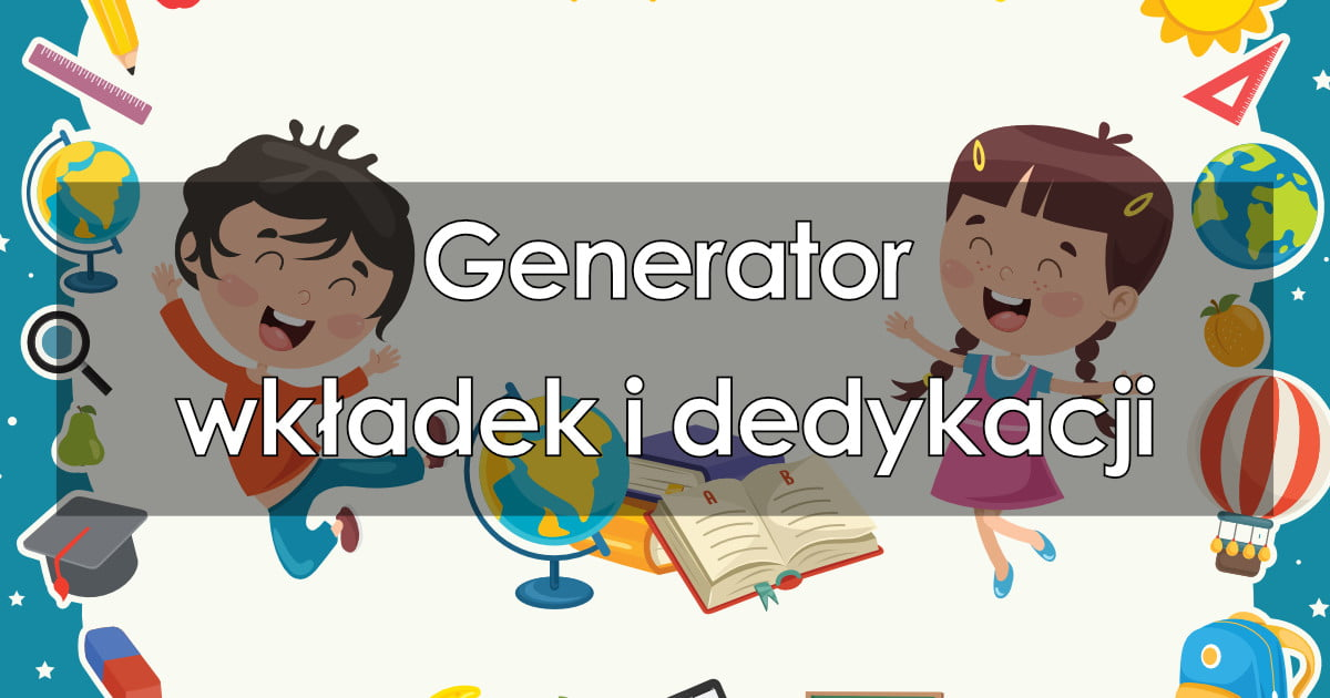 Generator wkładek i dedykacji do książek