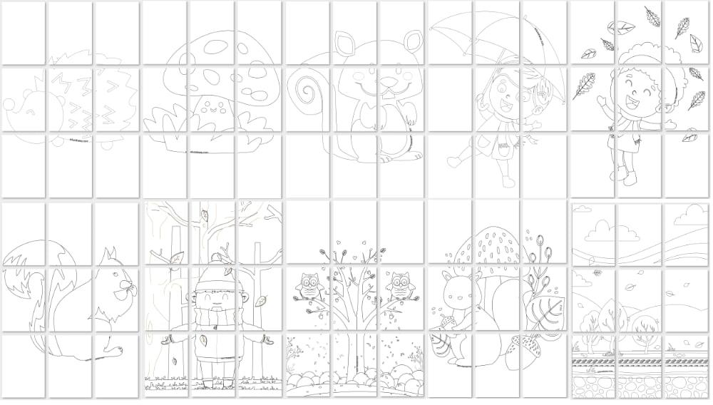Jesień: Kolorowanki XXL (10 kart pracy) Jesień Kolorowanki Kolorowanki (Dzień Drzewa) Kolorowanki (Jesień) Kolorowanki XXL Rośliny (Kolorowanki)