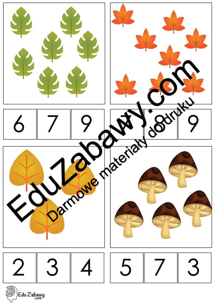 Jesień: Matematyka klamerkowa (40 kart pracy) Jesień Karty pracy Karty pracy (Jesień) Matematyka klamerkowa