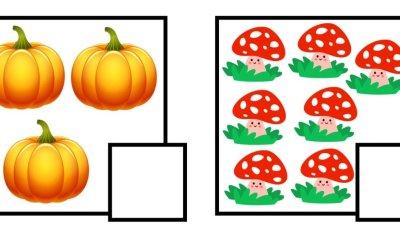 Jesień: Policz obrazki (40 kart pracy)