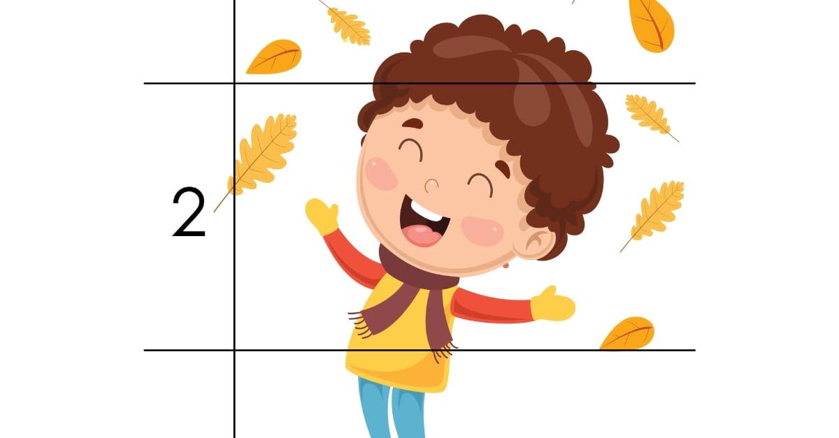 Jesień: Puzzle 3 elementy (10 kart pracy)