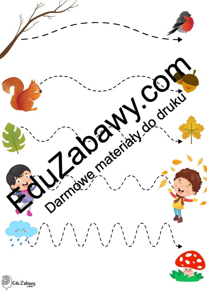Jesień: Szlaczki (10 kart pracy) Jesień Karty pracy Karty pracy (Jesień) Szlaczki