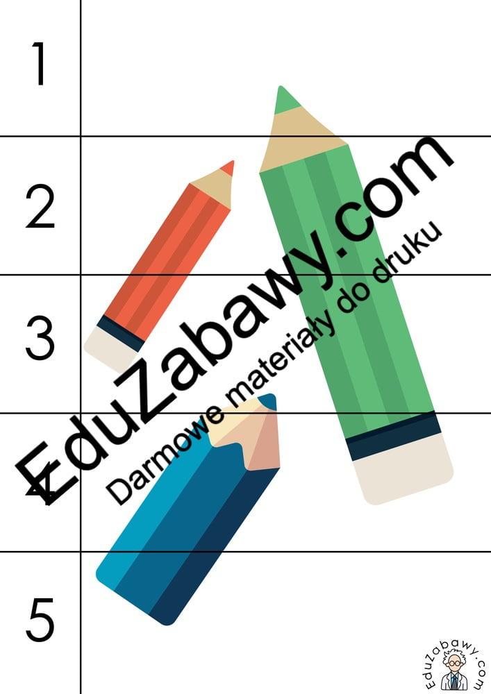 Dzień Kredki: Puzzle 5 elementów (10 kart pracy) Dzień Kredki Karty pracy Karty pracy (Dzień kredki) Puzzle