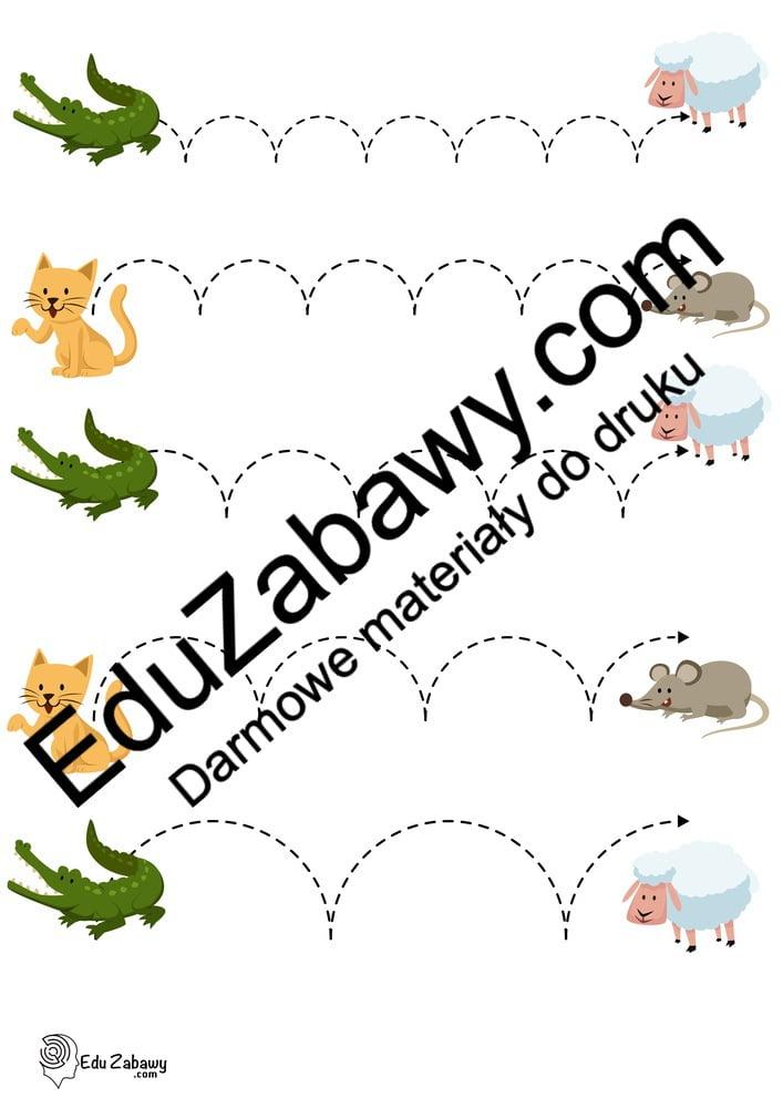 Dzień Zwierząt: Szlaczki (10 kart pracy) Karty pracy Karty pracy (Dzień Zwierząt) Światowy Dzień Zwierząt Szlaczki