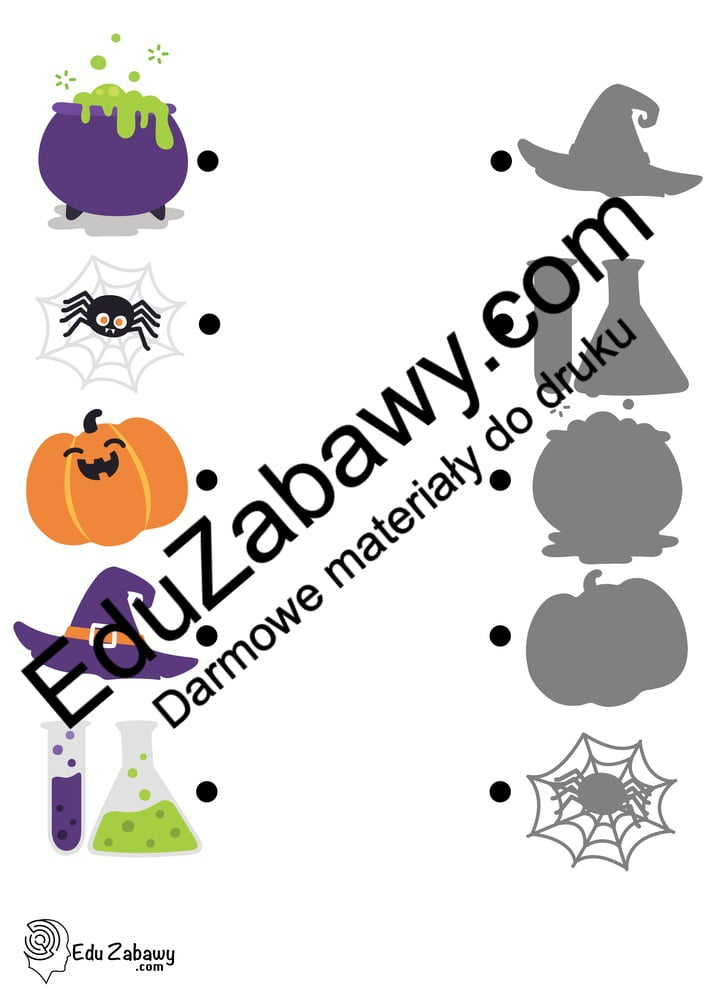 Halloween: Dopasuj cienie (10 kart pracy) Dopasuj cienie Karty pracy Karty pracy (Halloween / Święto dyni) Święto Dyni / Halloween
