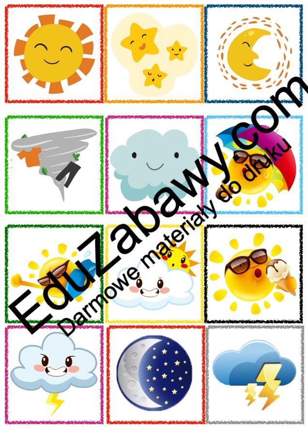 Znaczki przedszkolne - Pogoda Kalendarz świąt Powitanie przedszkola Wrzesień Znaczki na szafki / etykiety (Powitanie przedszkola)