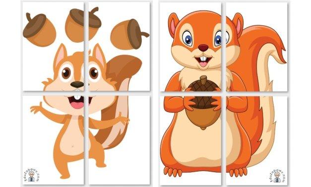Dekoracje XXL: Wiewiórki (10 szablonów)