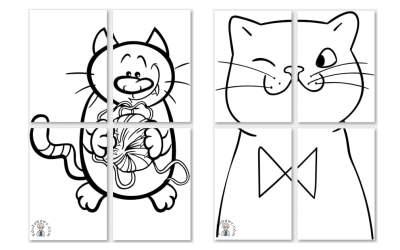 Kolorowanki XXL: Koty