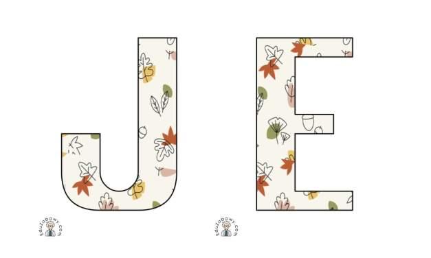 Napis Jesień – Liście