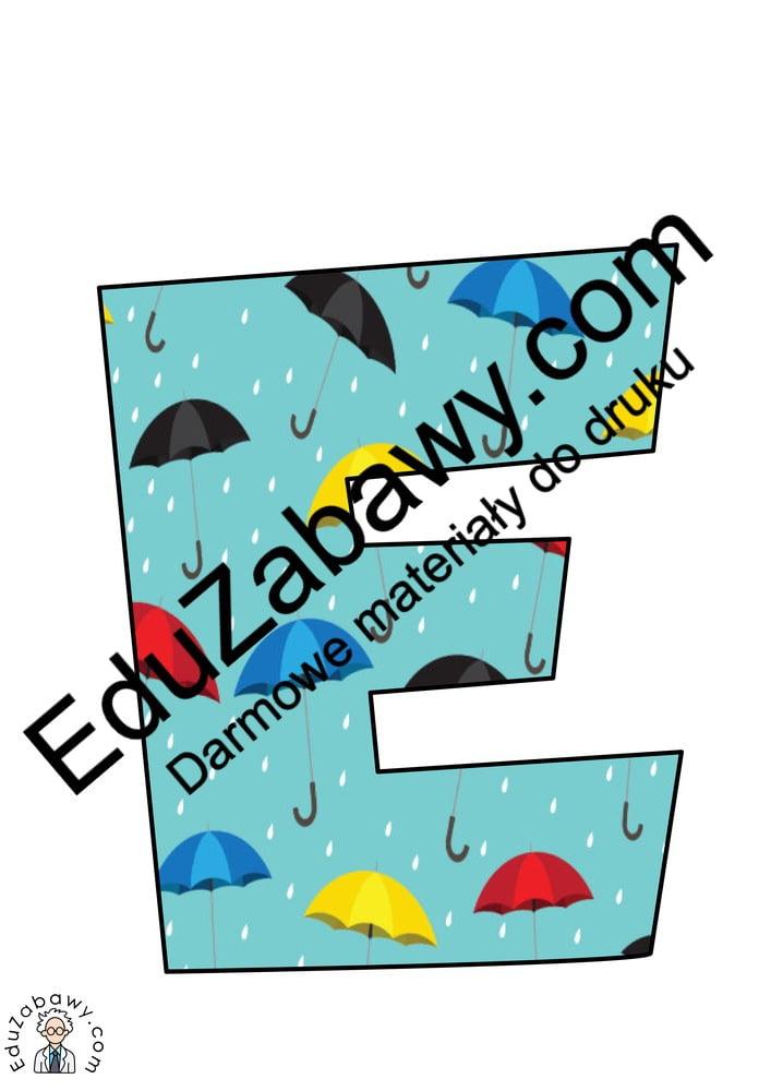Napis Jesień - parasole Jesień Napisy (Jesień)