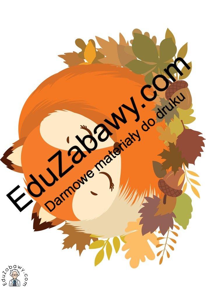 Dekoracje: Liski (10 szablonów) Dekoracje Dekoracje (Jesień)
