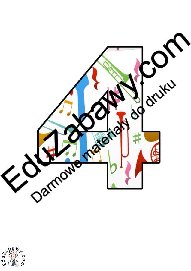 Instrumenty muzyczne: Cyfry Litery i cyfry do tworzenia napisów Muzyka (litery i cyfry)