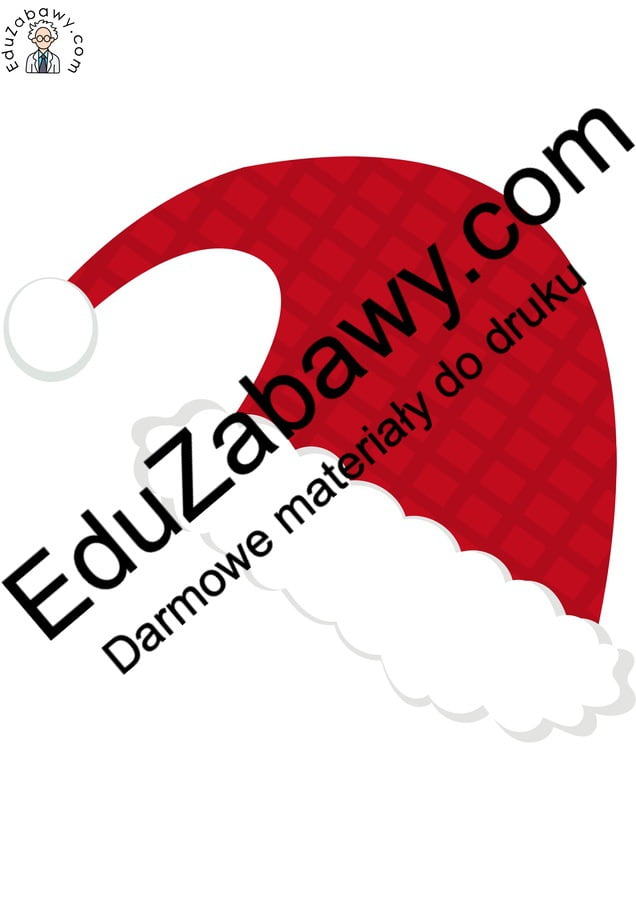 Dekoracje: Czapka Mikołaja Boże Narodzenie Dekoracje Dekoracje (Boże Narodzenie) Dekoracje (Mikołajki) Mikołajki