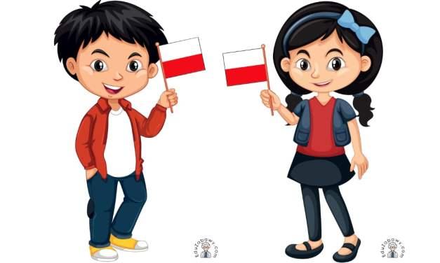 Dekoracje: Dzieci z flagą
