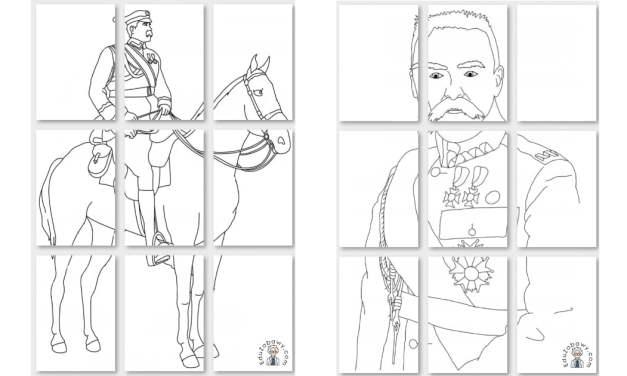 Kolorowanki: Józef Piłsudski A4 i XXL