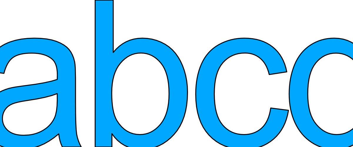 Niebieskie litery małe