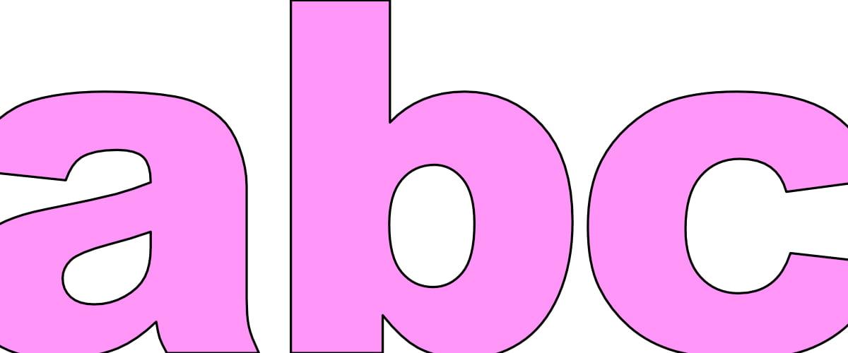 Różowe litery małe