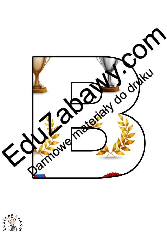 Trofea: litery duże Litery i cyfry do tworzenia napisów Sport (litery i cyfry)