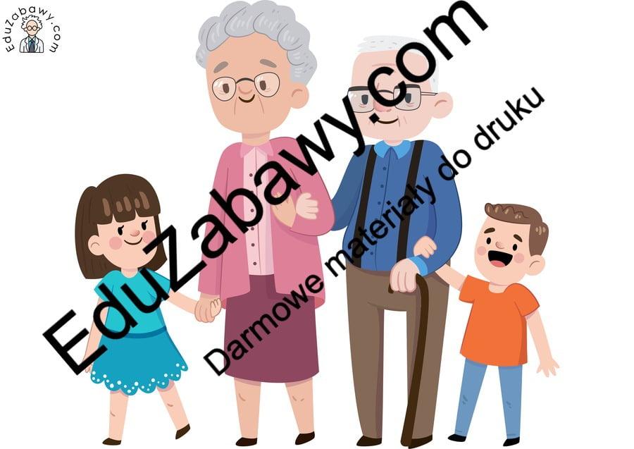 Dekoracje: Babcia i Dziadek Dekoracje (Dzień Babci i Dziadka) Dzień Babci i Dziadka Kalendarz świąt Styczeń