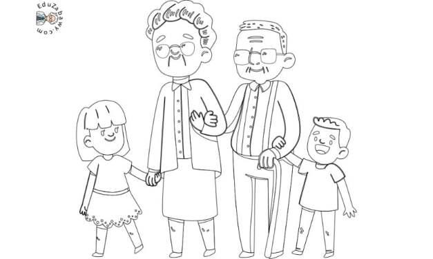 Kolorowanki: Babcia i dziadek
