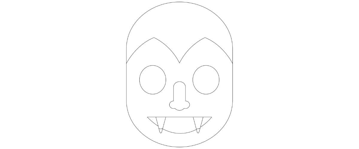 Maski na Halloween do kolorowania / wyklejania