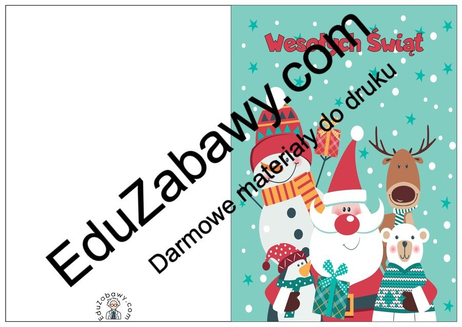 Stwórz kartkę świąteczną - wzory z reniferem Boże Narodzenie Stwórz kartkę świąteczną