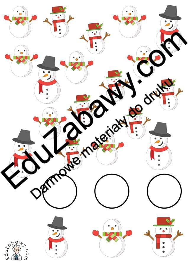 Zima: Bystre oczko (10 kart pracy) Bystre oczko Karty pracy Karty pracy (Zima) Zima