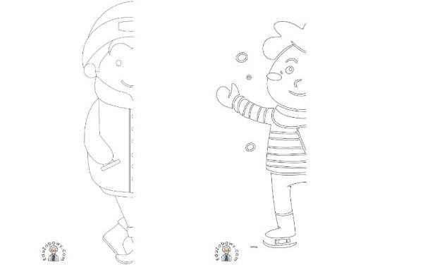 Zima: Dokończ obrazek (10 szablonów)
