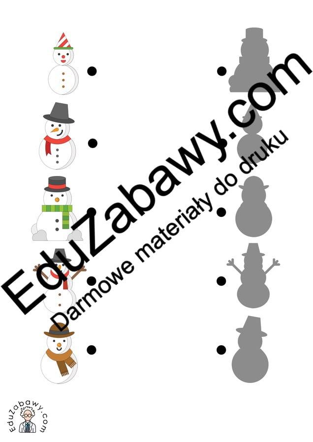 Zima: Dopasuj cienie (10 kart pracy) Dopasuj cienie Karty pracy Karty pracy (Zima) Zima