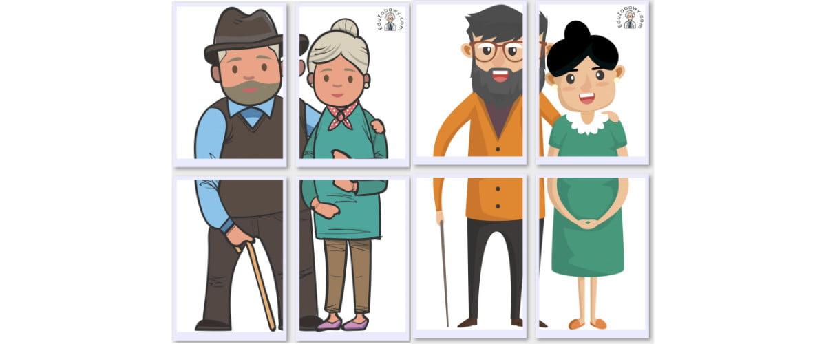 Dekoracje XXL: Babcia i Dziadek (10 szablonów)