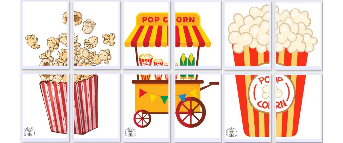 Dekoracje XXL: Popcorn (10 szablonów)