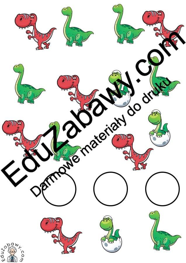 Dzień Dinozaura: Bystre oczko (10 kart pracy) Bystre oczko Dzień Dinozaura Karty pracy Karty pracy (Dzień Dinozaura)