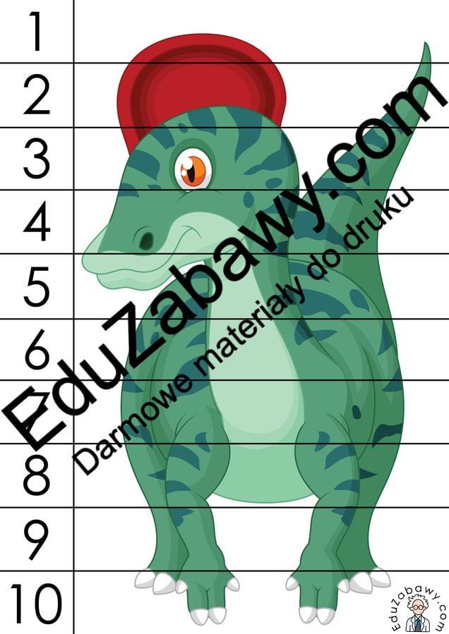 Dzień Dinozaura: Puzzle 10 elementów (10 kart pracy) Dzień Dinozaura Karty pracy Karty pracy (Dzień Dinozaura) Puzzle